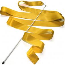 Лента гимнастическая 6 м. с палочкой (жёлтая)