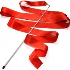 Лента гимнастическая 6 м. с палочкой (красная)