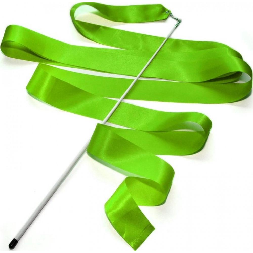 Лента гимнастическая 6 м. с палочкой (зелёная)
