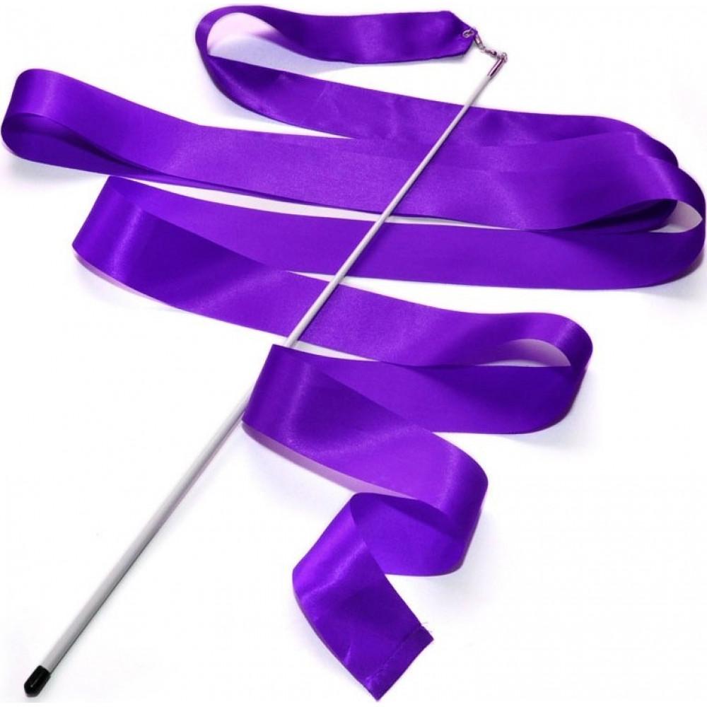 Лента гимнастическая 6 м. с палочкой (фиолетовая)