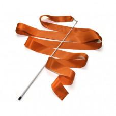 Лента гимнастическая 6 м. с палочкой (оранжевая)