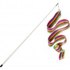 Лента гимнастическая 6 м. с палочкой (разноцветная)