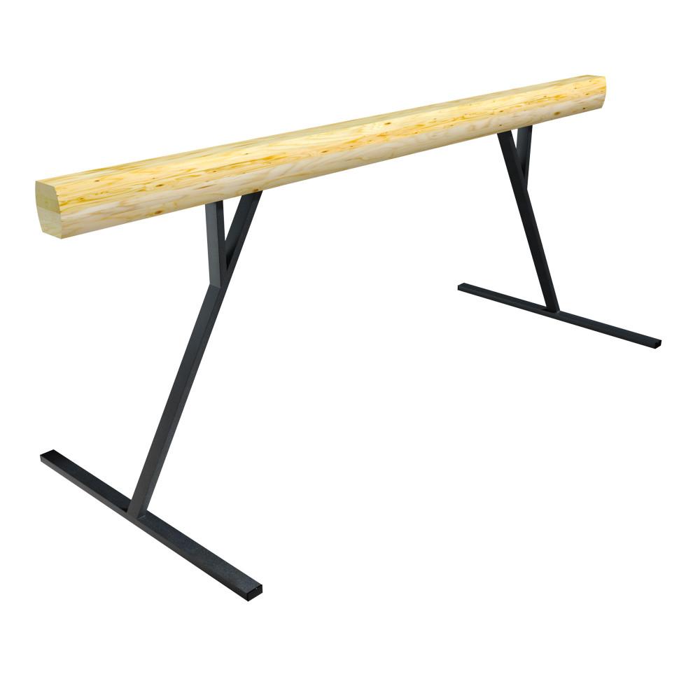 Бревно гимнастическое L=3000 на высоких металлических  опорах