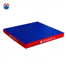 Мат гимнастический квадрат 1000x1000x100мм (вин.кожа) АС