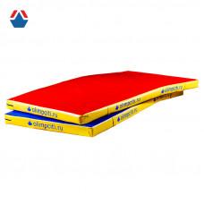 Мат гимнастический малый Velcro 1600x800x50мм (вин.кожа)