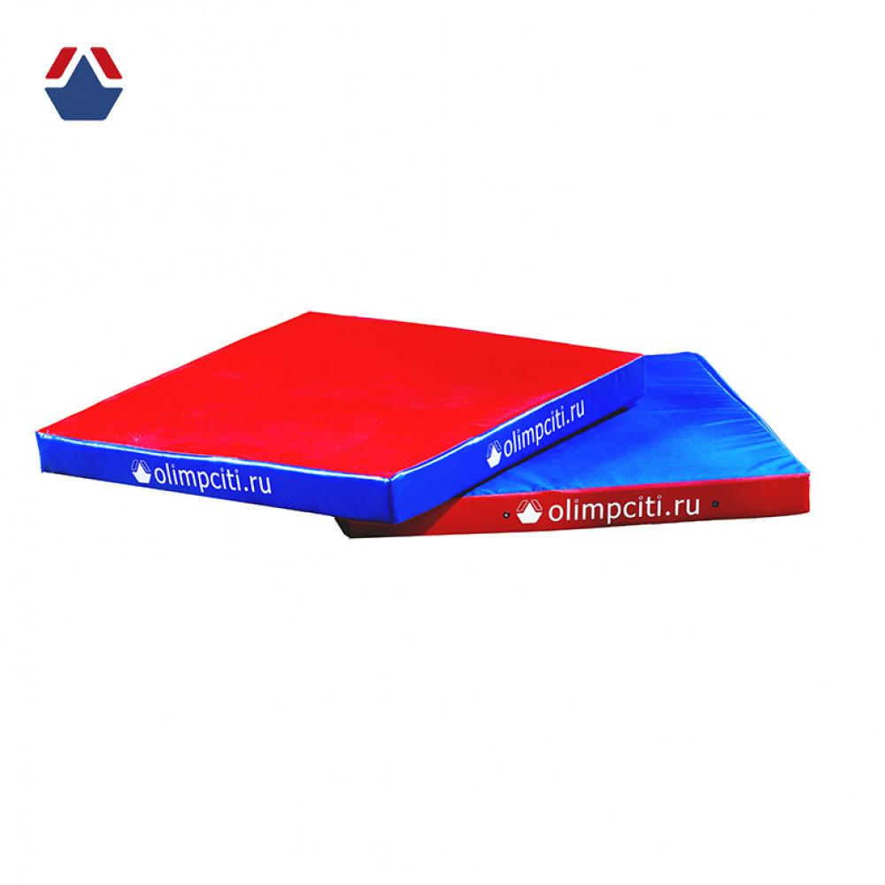 Мат гимнастический квадратный Velcro 1000x1000x100мм (вин.кожа)