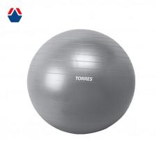 Мяч для фитнеса TORRES 75 см (Серебристый металлик)
