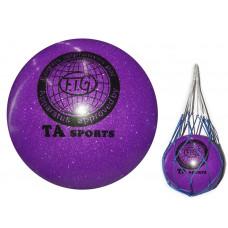 """Мяч для художественной гимнастики диаметр 15 см. (фиолетовый ) имитация """"металлика"""""""