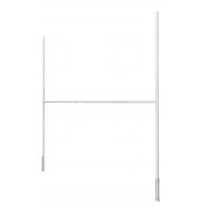 Ворота для регби 5650х3000мм стационарные алюминиевые, профиль овальный 100х120мм