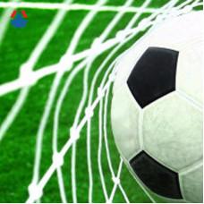 Сетка для футбольных ворот 7,5х2,5х1х2 м яч. 100х100 мм Ø 2,6