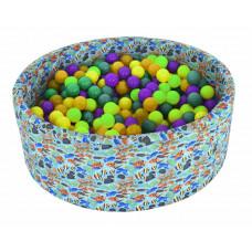 Сухой бассейн круглый Аквариум D1000х330х50