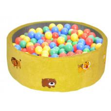 Сухой бассейн круглый Зоопарк (Желтый) D1000х330х40