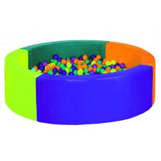 Сухой бассейн круглый (четырехцветный) D1800х400х150