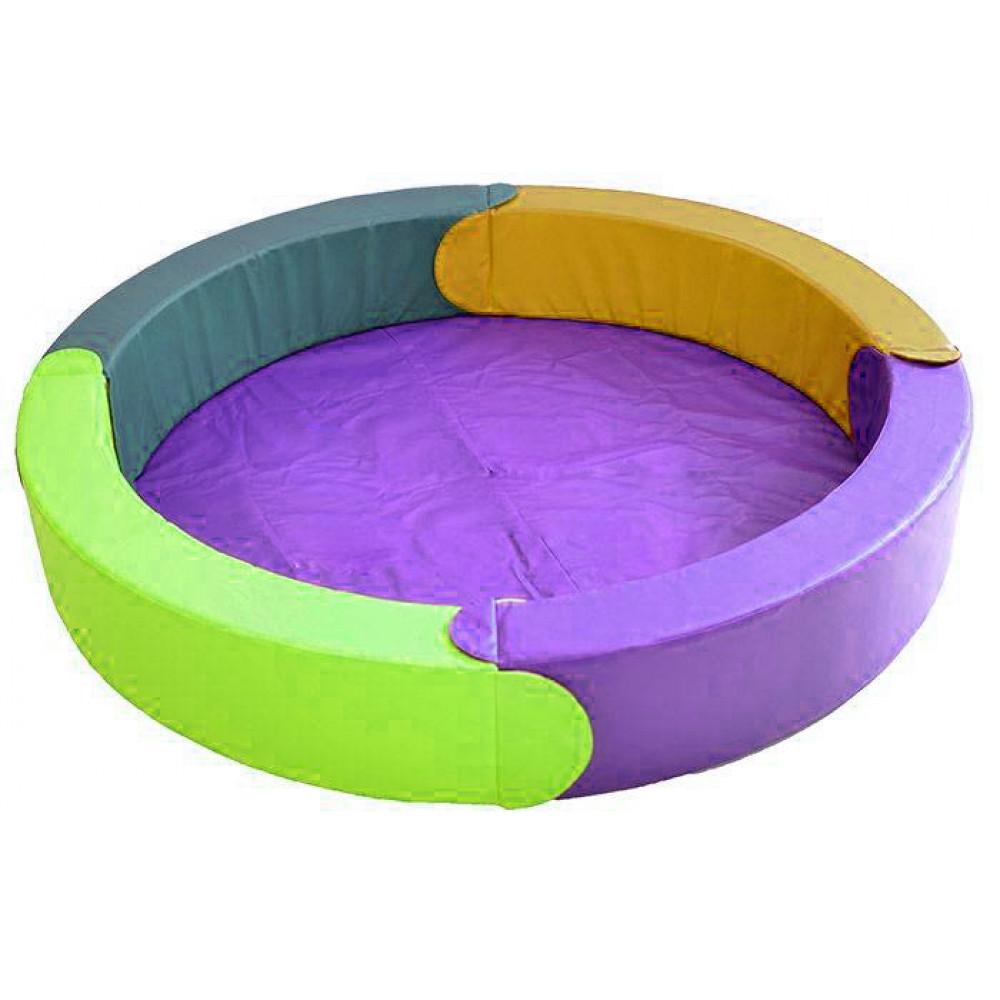 Модульный сухой бассейн круглый 4 элемента D1890х300х150