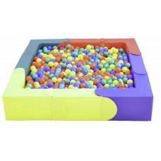 Модульный сухой бассейн 8 элементов 1500х1500х300х150