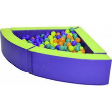 Угловой сухой бассейн для дома 1200х1200х300х150