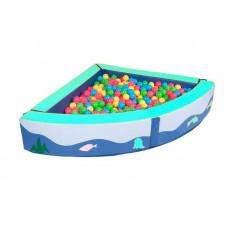 Сухой бассейн угловой 1350х1350х300х150