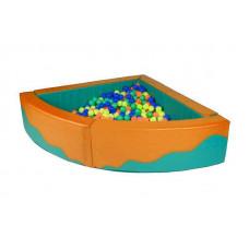 Угловой сухой бассейн 1500х1500х400х150
