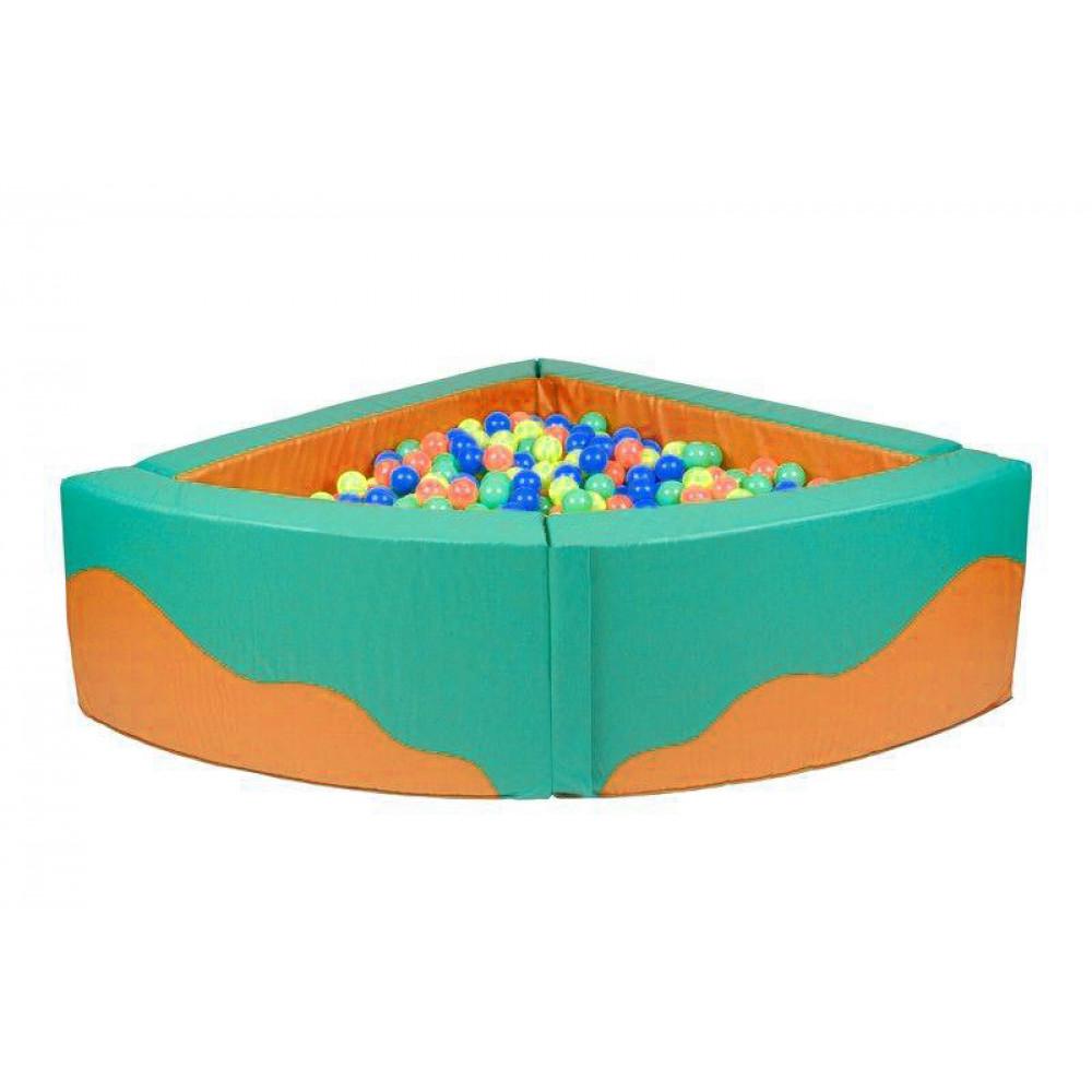 Угловой сухой бассейн 1500х1500х500х150