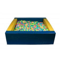 Прямоугольный сухой бассейн 1900х1500х300х150