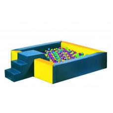 Квадратный сухой бассейн 2000х2000х400х200