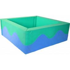 Квадратный сухой бассейн 2000х2000х500х200