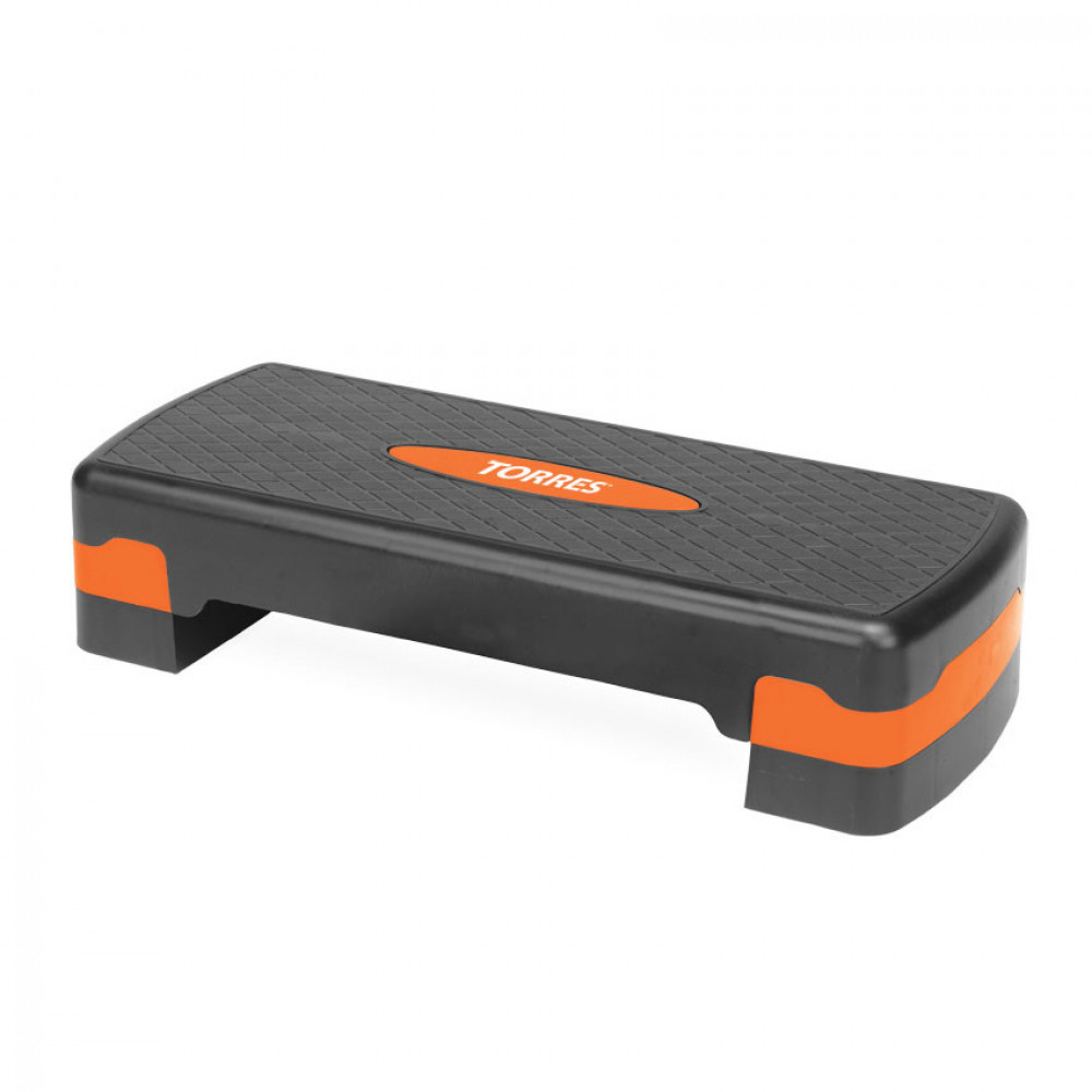 Степ-платформа AL1005, два уровня, 64х28х10/15 см, оранжево-черный