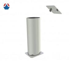 Комплект закладных стальных стаканов для стац. стоек из профиля 100х120
