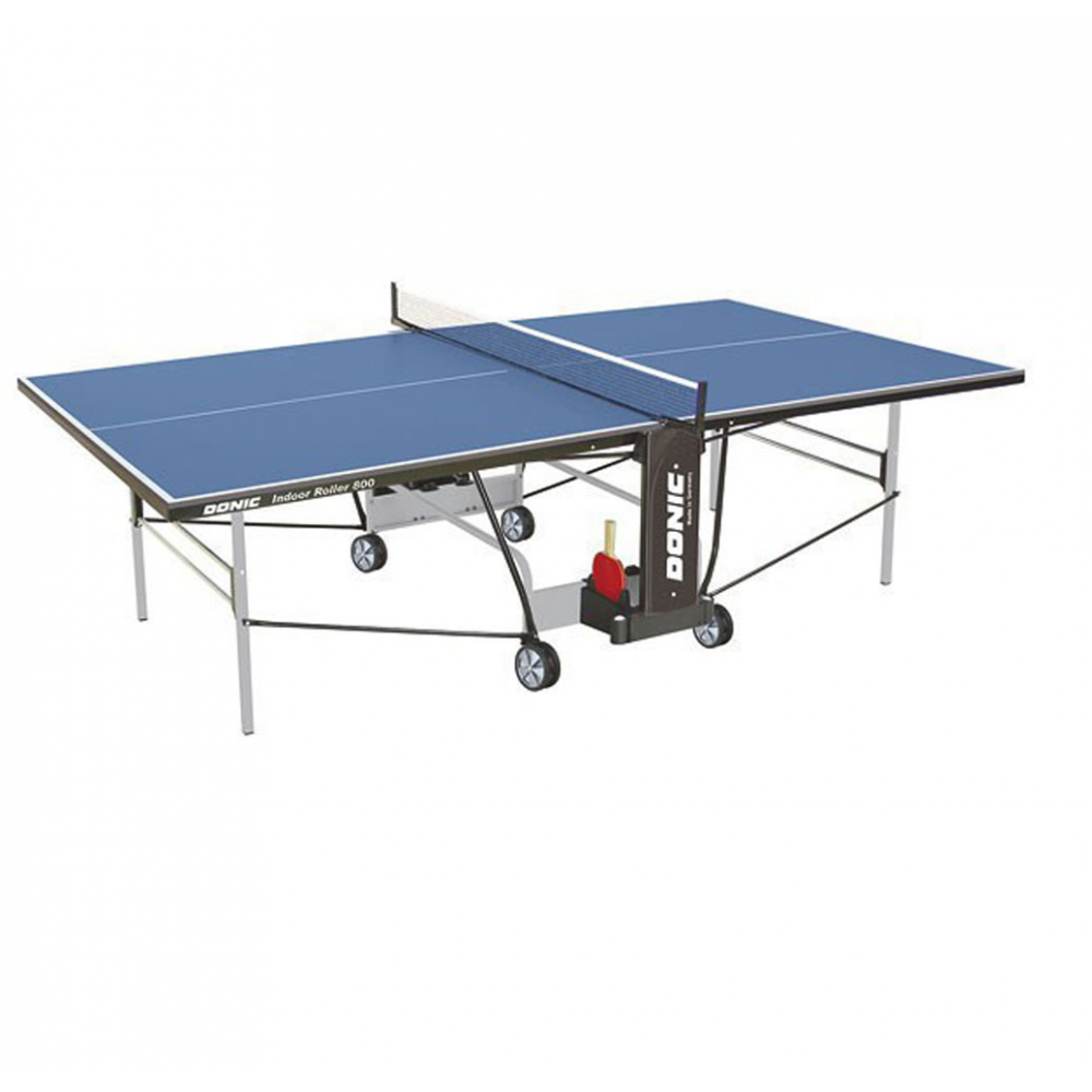Теннисный стол Donic Indoor Roller 800 синий с сеткой