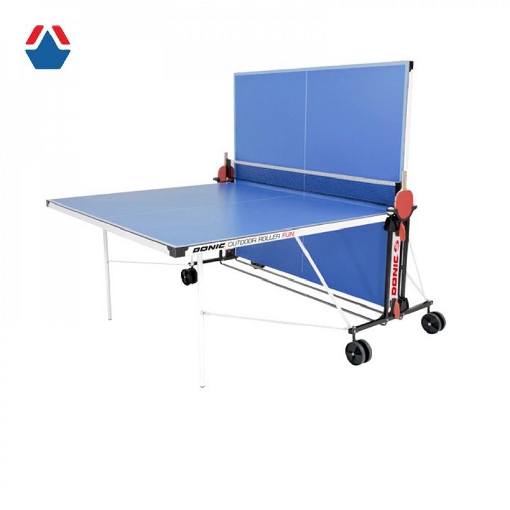 Всепогодный теннисный стол Donic Outdoor Roller FUN синий с сеткой 230234-B
