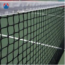Сетка для большого тенниса 12,8х1,07 м яч. 40х40 мм,обш. с 4-х сторон, со стал. тросом, Ø 3,5