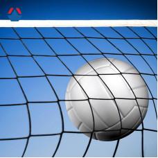Сетка волейбольная 9500х1000мм ячейка 100х100мм трос стальной 4мм толщина нити 2,8мм