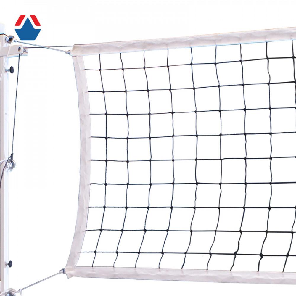 Сетка волейбольная d 3,1мм ЧЕРНАЯ обшитая с четырех сторон, с ПВХ тросом