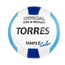 Мяч волейбольный TORRES Simple Color V30115 р.5