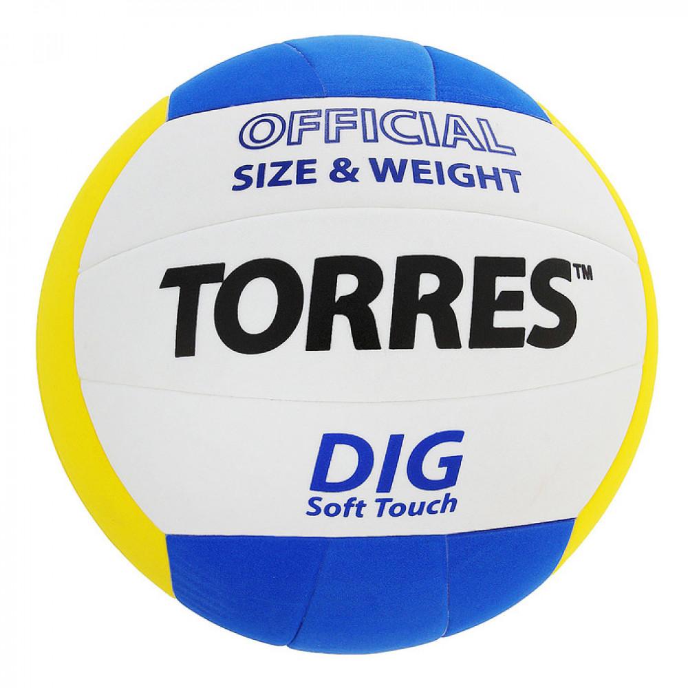 Мяч волейбольный (школьный) TORRES Dig №5 V20145