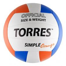 Мяч волейбольный (школьный) TORRES Simple Orange V30125 р.5