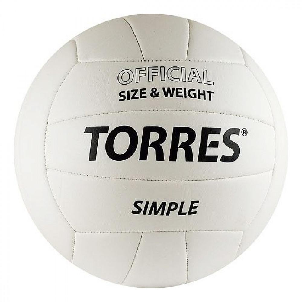 Мяч волейбольный (школьный) TORRES Simple V30105