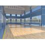 Стойки волейбольные со стаканами Круглые d76 с системой натяжения